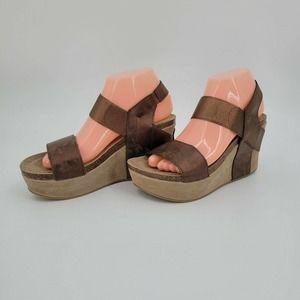 Yoki Hestry Edgy Statement Platform Wedge Sandals